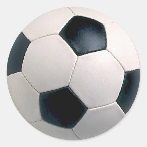 Pegatinas del balón de fútbol etiqueta redonda