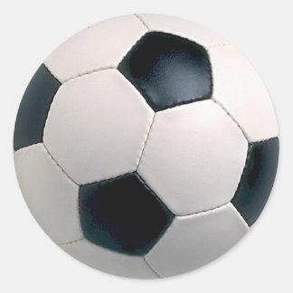 Pegatinas del balón de fútbol pegatina redonda