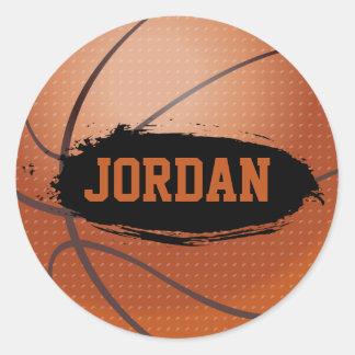 Pegatinas del baloncesto del Grunge de Jordania Pegatina Redonda