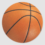 Pegatinas del baloncesto etiqueta redonda