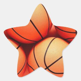 pegatinas del baloncesto pegatina en forma de estrella