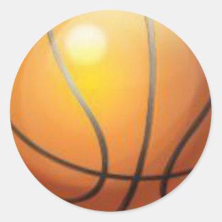 pegatinas del baloncesto pegatina redonda