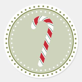 Pegatinas del bastón de caramelo el | pegatina redonda