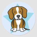Pegatinas del beagle de la estrella de Kawaii