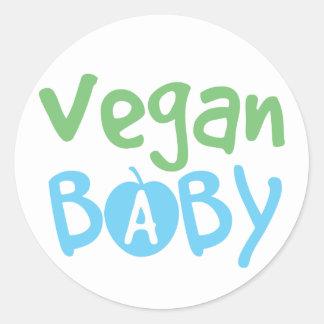 Pegatinas del bebé del vegano pegatina redonda