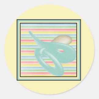 Pegatinas del bebé y sellos del sobre pegatina redonda