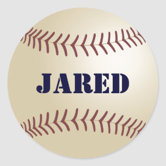Pegatinas del béisbol de Jared Pegatina Redonda