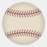 Pegatinas del béisbol del vintage pegatina redonda