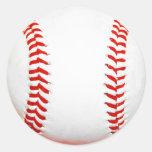 Pegatinas del béisbol etiqueta redonda