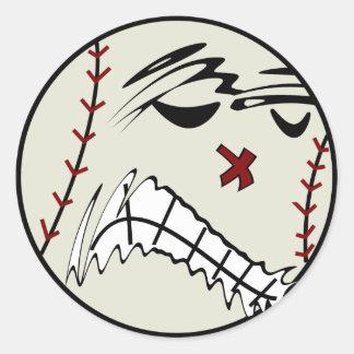 Pegatinas del béisbol o del softball pegatina redonda