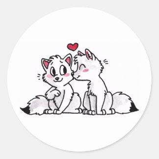 Pegatinas del beso del Fox ártico
