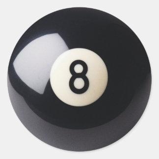 Pegatinas del billar 8-Ball de los billares Pegatina Redonda
