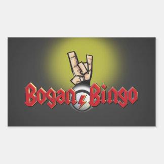 Pegatinas del bingo de Bogan Pegatina Rectangular