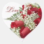 Pegatinas del boda del corazón del ramo de los pegatina de corazón