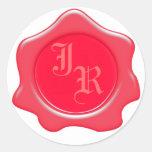 Pegatinas del boda del sello de la cera del etiqueta redonda