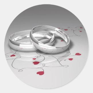 Pegatinas del boda pegatina redonda