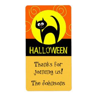 Pegatinas del bolso de la chuchería de Halloween Etiqueta De Envío
