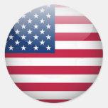 Pegatinas del botón de los E.E.U.U. 1 pulgada del Etiquetas Redondas