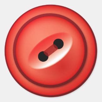 Pegatinas del botón rojo pegatina redonda