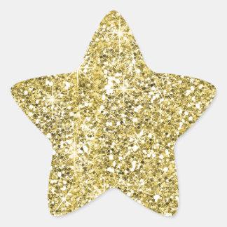 Pegatinas del brillo de la forma de la estrella pegatina en forma de estrella