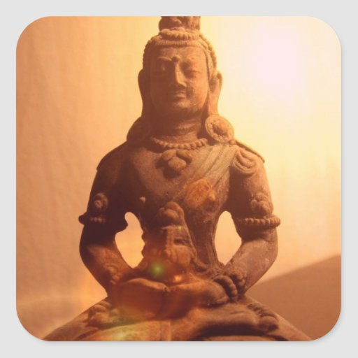 Pegatinas del Buddhism Pegatina Cuadrada