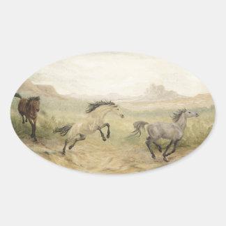 Pegatinas del caballo salvaje