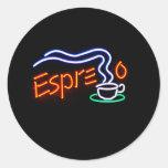 Pegatinas del café express