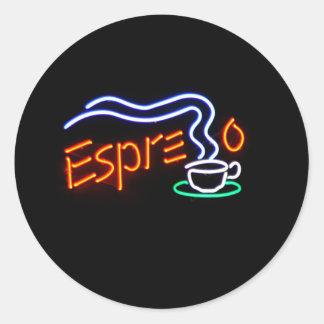 Pegatinas del café express pegatina redonda