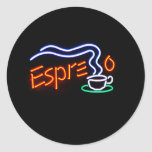 Pegatinas del café express pegatinas redondas