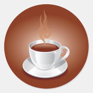 Pegatinas del café pegatina redonda
