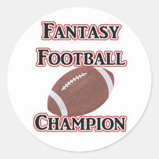Pegatinas del campeón del fútbol de la fantasía pegatina redonda