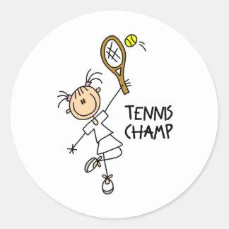 Pegatinas del campeón del tenis