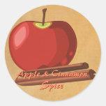 Pegatinas del canela de Apple