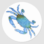 Pegatinas del cangrejo azul