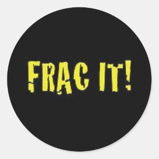 Pegatinas del casco del campo petrolífero FRAC