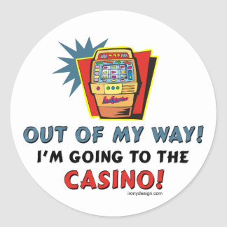 Pegatinas del casino pegatina redonda