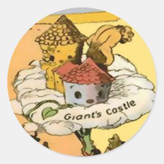 Pegatinas del castillo del gigante (en 8 formas, 2 pegatina redonda