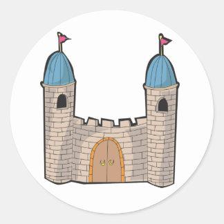 Pegatinas del castillo pegatina redonda