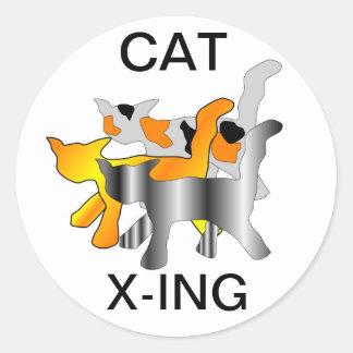 PEGATINAS DEL CAT X-ING ETIQUETAS REDONDAS