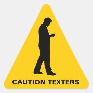 Pegatinas del catión de Texters Calcomanías Trianguloes Personalizadas