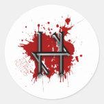 Pegatinas del cazador del zombi etiquetas redondas