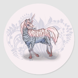 Pegatinas del cebra-unicornio de Zebracorn Pegatina Redonda