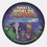 Pegatinas del cementerio de SmallWorlds Halloween Pegatinas Redondas