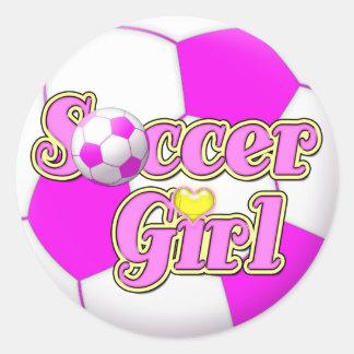 Pegatinas del chica del fútbol