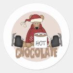 Pegatinas del chocolate caliente