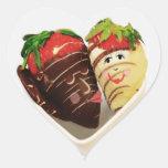 Pegatinas del chocolate y del corazón de los pares