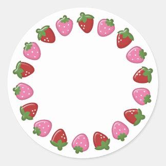 Pegatinas del círculo de la fresa pegatina redonda