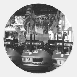 Pegatinas del coche de parachoques de Dodgem del Pegatina Redonda