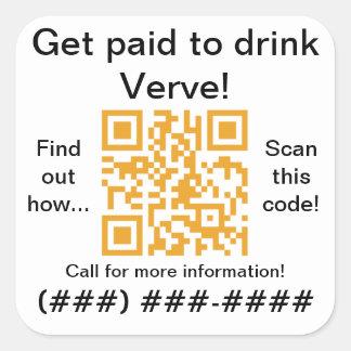 pegatinas del código de YPRzone.com QR Pegatinas Cuadradas Personalizadas