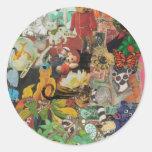 Pegatinas del collage 1 de la cubierta etiqueta redonda